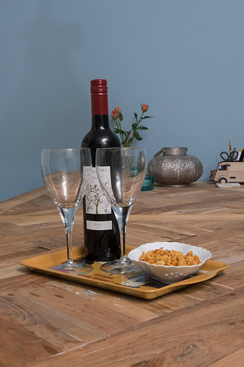 bottle of wine with glasses